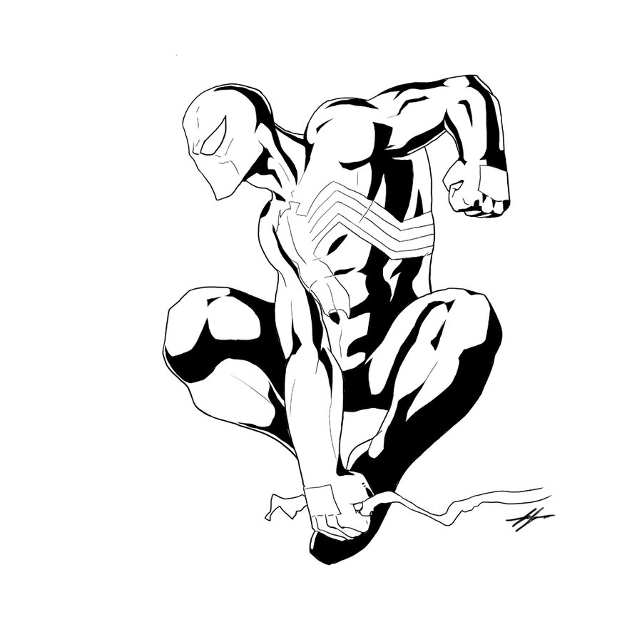 900x900 Symbiote Suit Spider Man By Mr Akbar