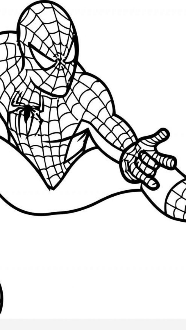 640x1136 Spiderman Coloring Pages Timykids