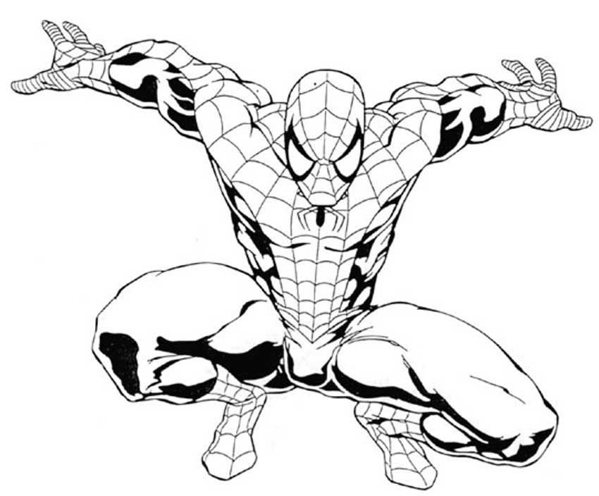 850x704 Spiderman Coloring Pages Online Online Coloring Pages