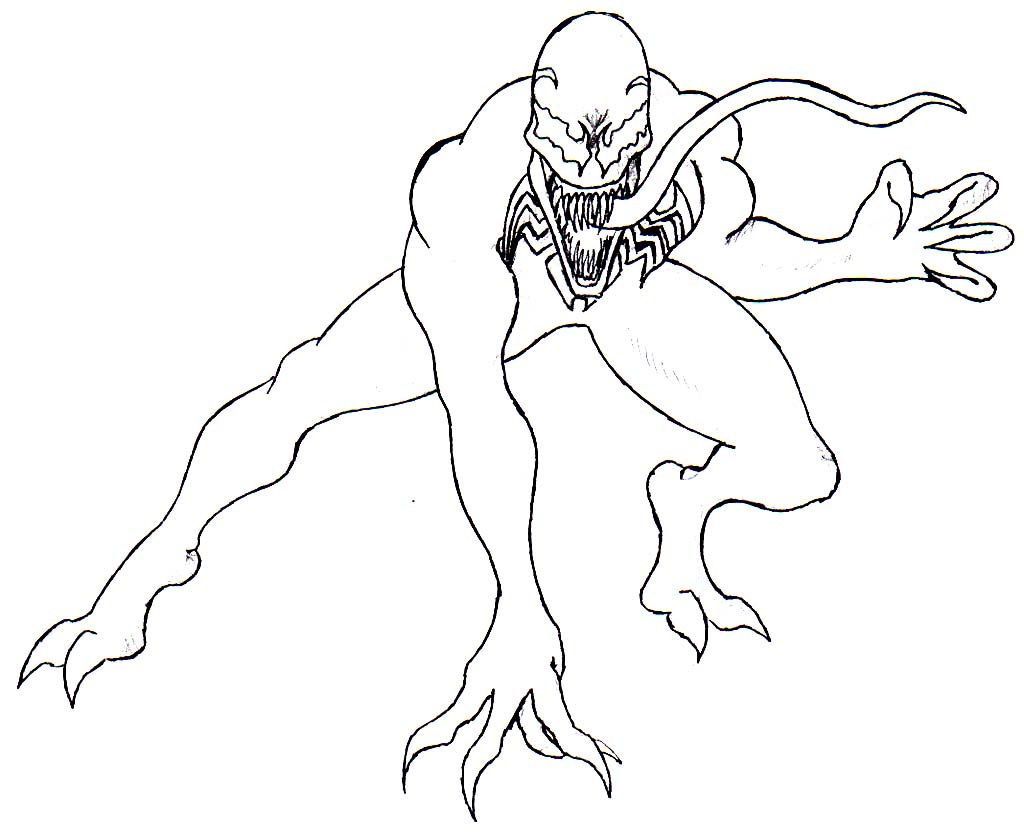 Free For Personal Use Spiderman Venom Drawing Of