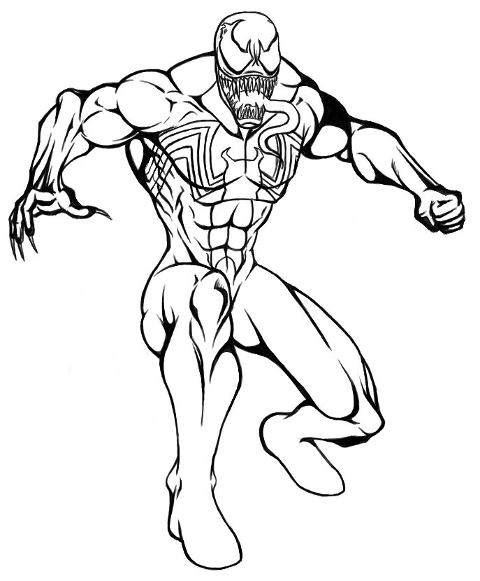 687x830 Spiderman Venom And Carnage Coloring Pages Anti