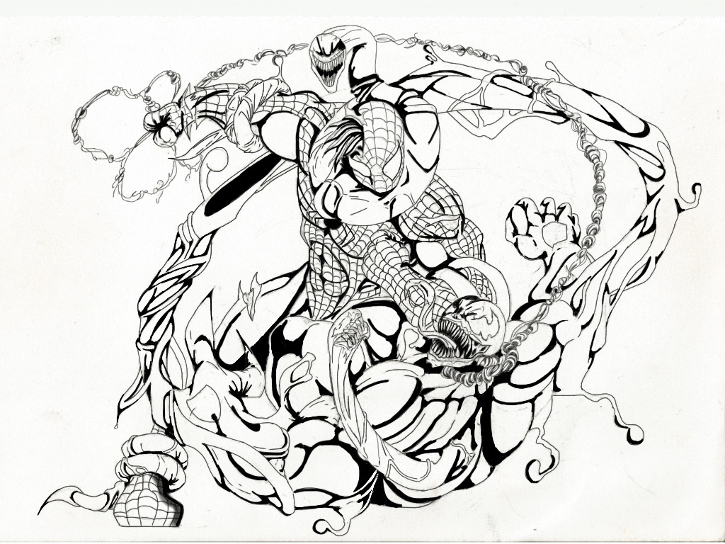 Spiderman Venom Drawing At Getdrawings Com Free For Personal Use
