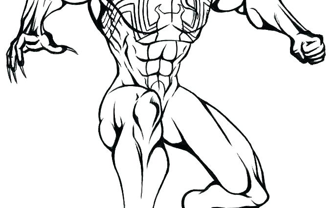 Spiderman Venom Drawing at GetDrawings.com   Free for personal use ...