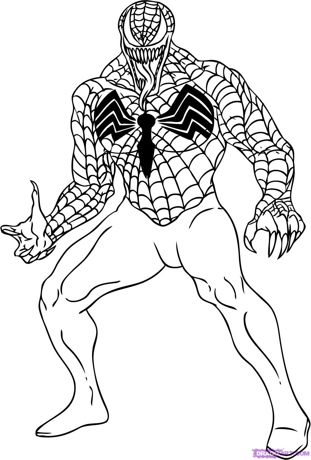 Spiderman Venom Drawing at GetDrawings.com | Free for personal use ...