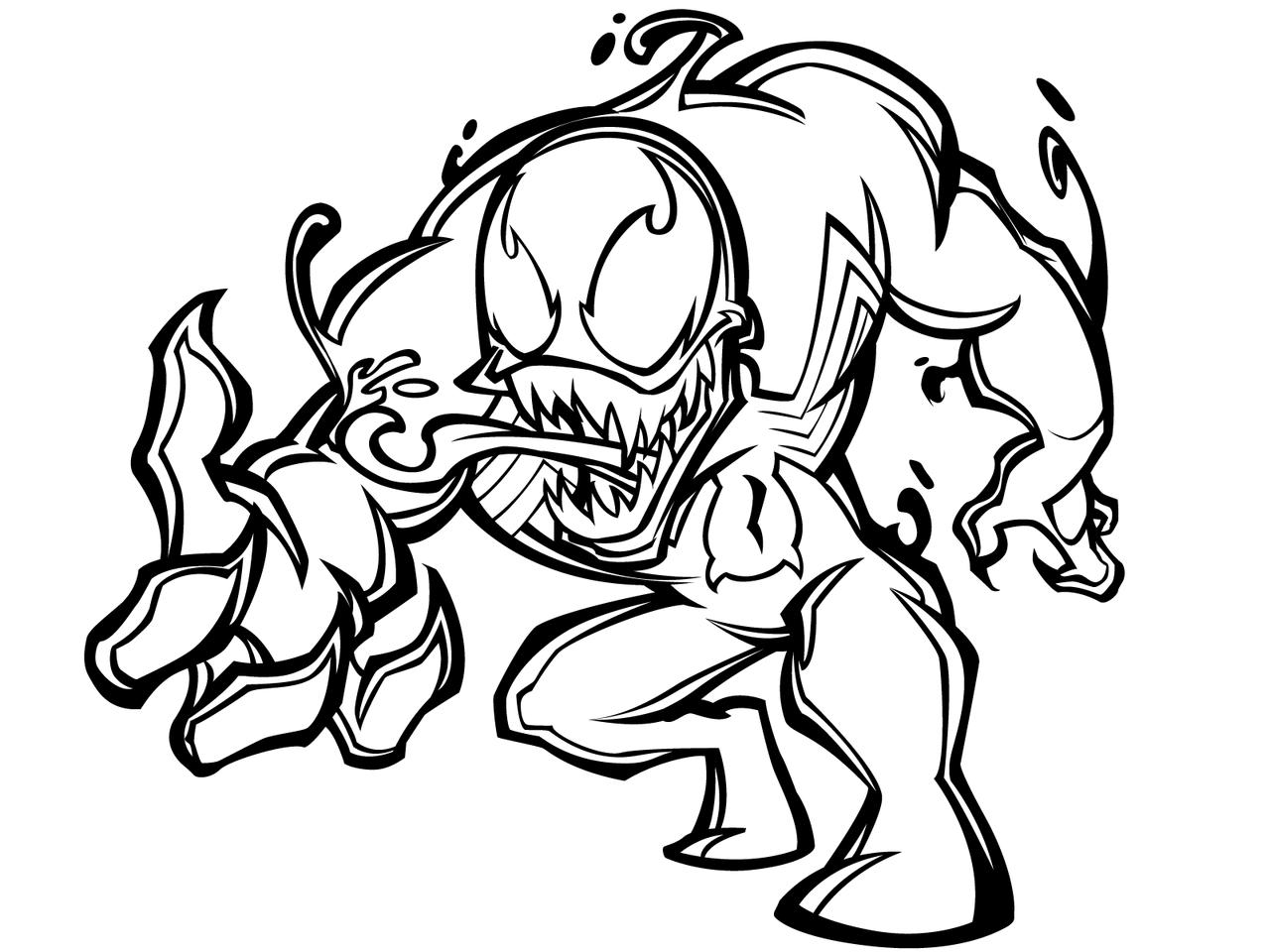 Excepcional Colorear Veneno De Spiderman Componente - Dibujos de ...