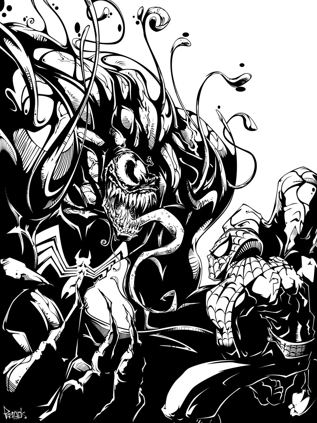 1024x1365 Venom Vs Spiderman Digi Ink By Pnutink On DeviantArt