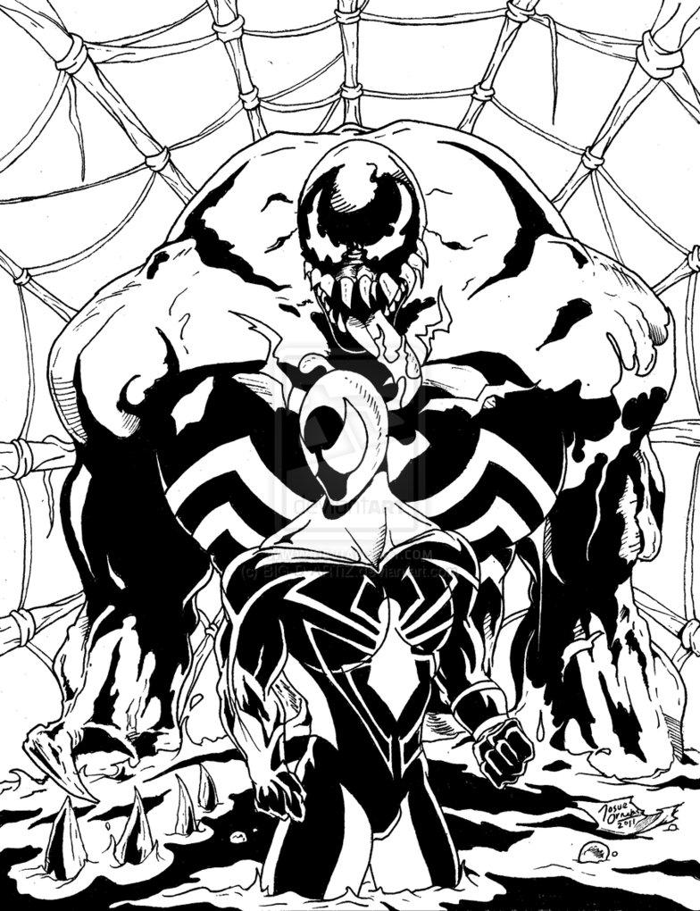 Dorable Spiderman Vs Veneno Para Colorear Modelo - Dibujos Para ...