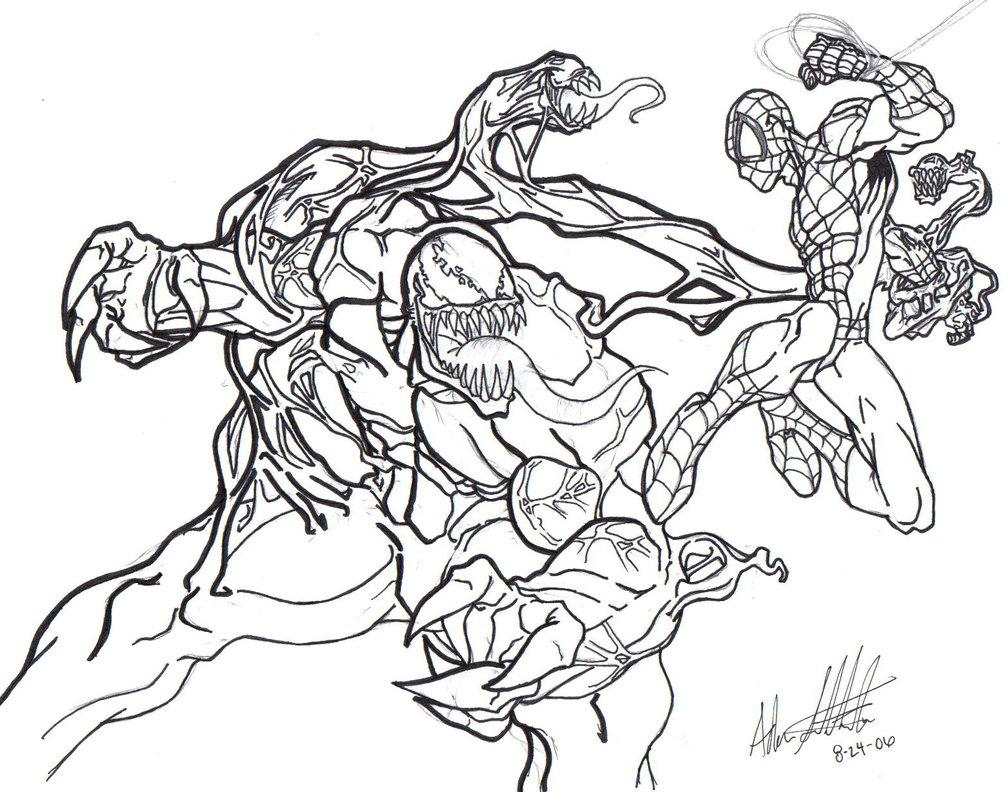 25 + dibujos para colorear de venom y carnage