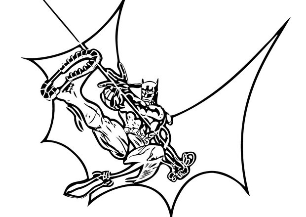 620x439 Batman Spiderman And Superman Coloring Pages