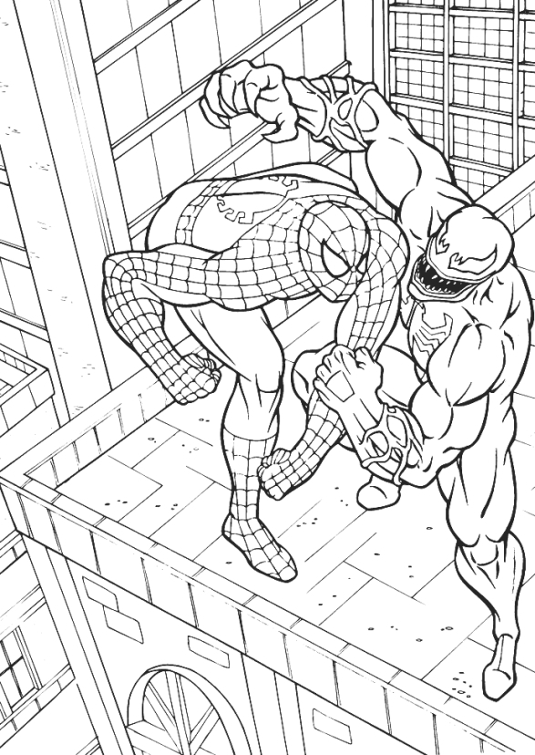 Spiderman Vs Venom Drawing at GetDrawings.com | Free for personal ...