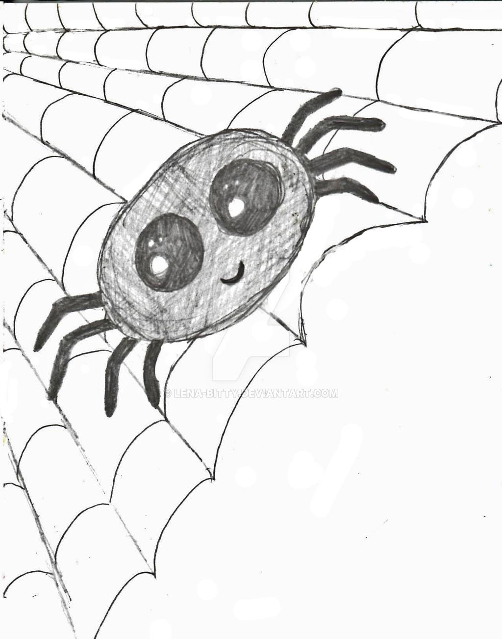 1024x1302 Drawn Spider Cute