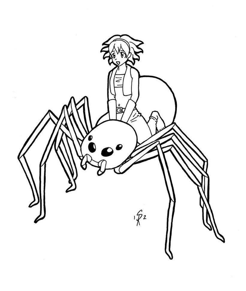 821x973 Spider Rider By Gingersketches