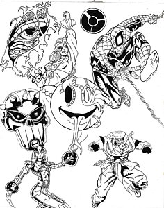 236x300 Spiders Drawings