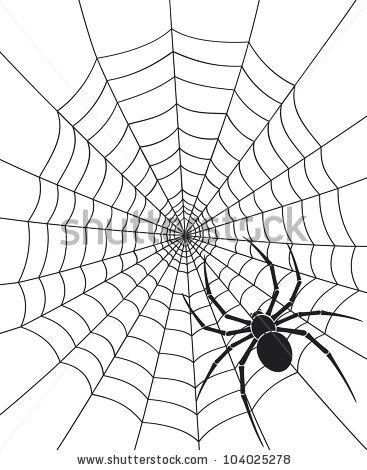 367x470 Drawn Spider Web Sketch