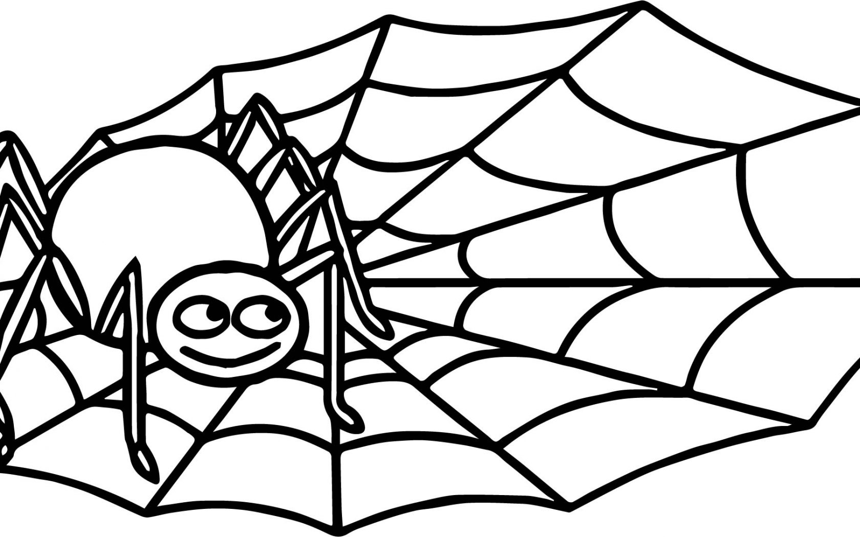 1680x1050 Incy Wincy Spider Coloring Page Free Printable Animals Pages