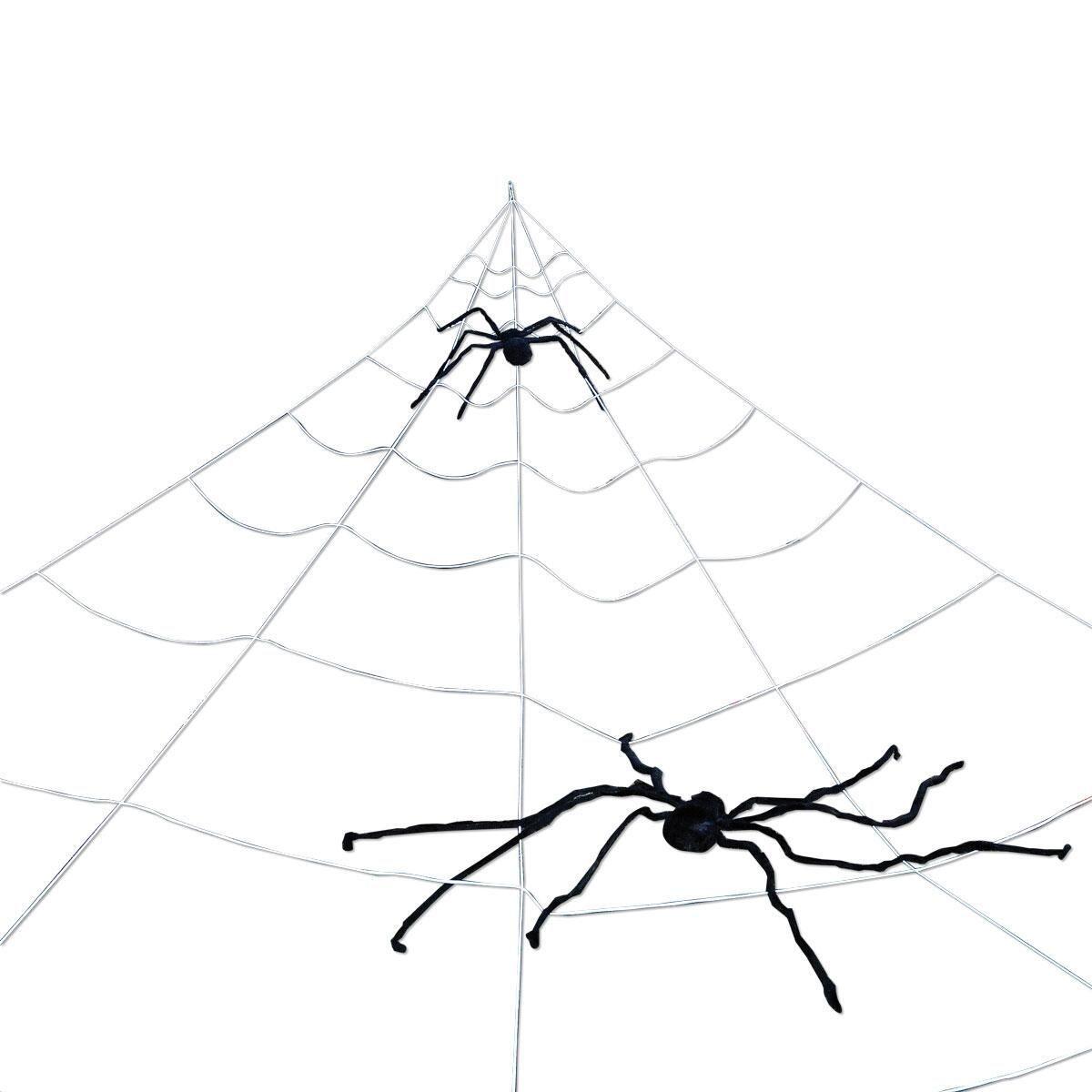 1200x1200 Mega Yard Spider Web Lillian Vernon