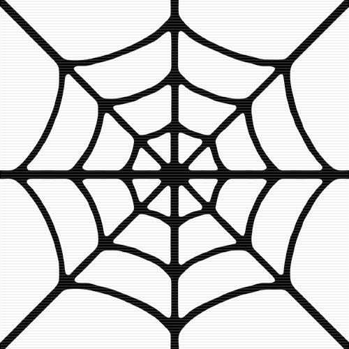 500x500 Simple Spider Web Clipart
