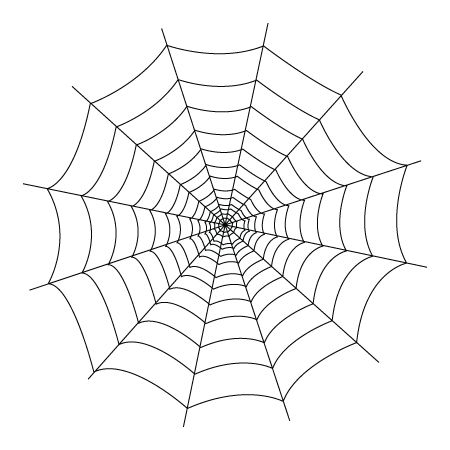 450x450 Spider Web Coloring Pages 2 Drawing