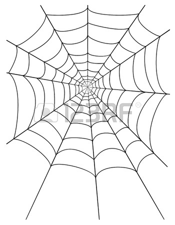 350x450 Spider Web Stock Vector Illustration Isolated On White Background
