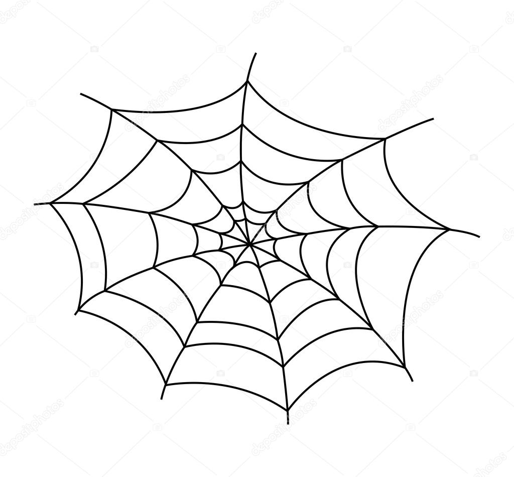 1024x950 Spider Web Vector Illustration Stock Vector Baavli