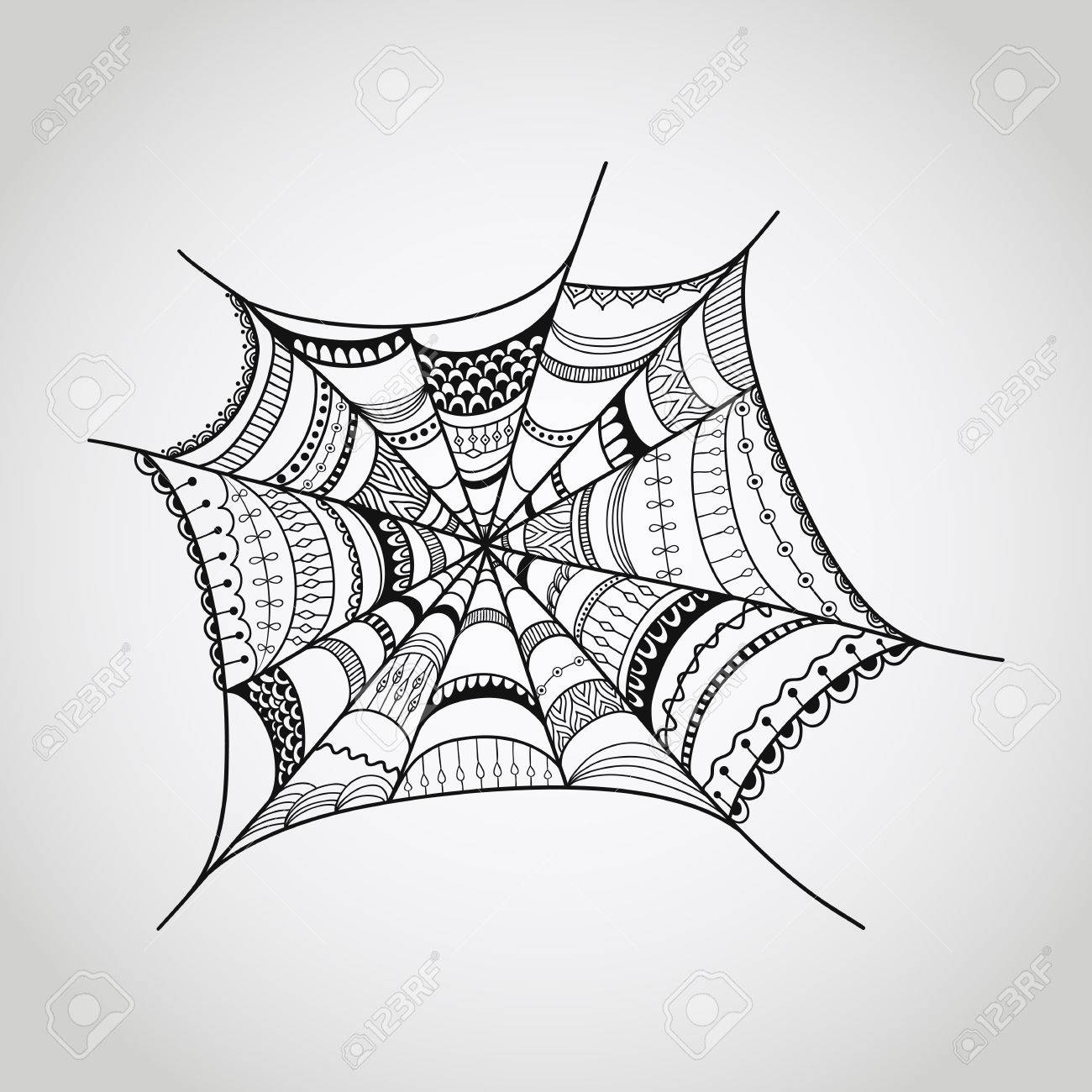 1300x1300 Spider Web Illustration Royalty Free Cliparts, Vectors, And Stock