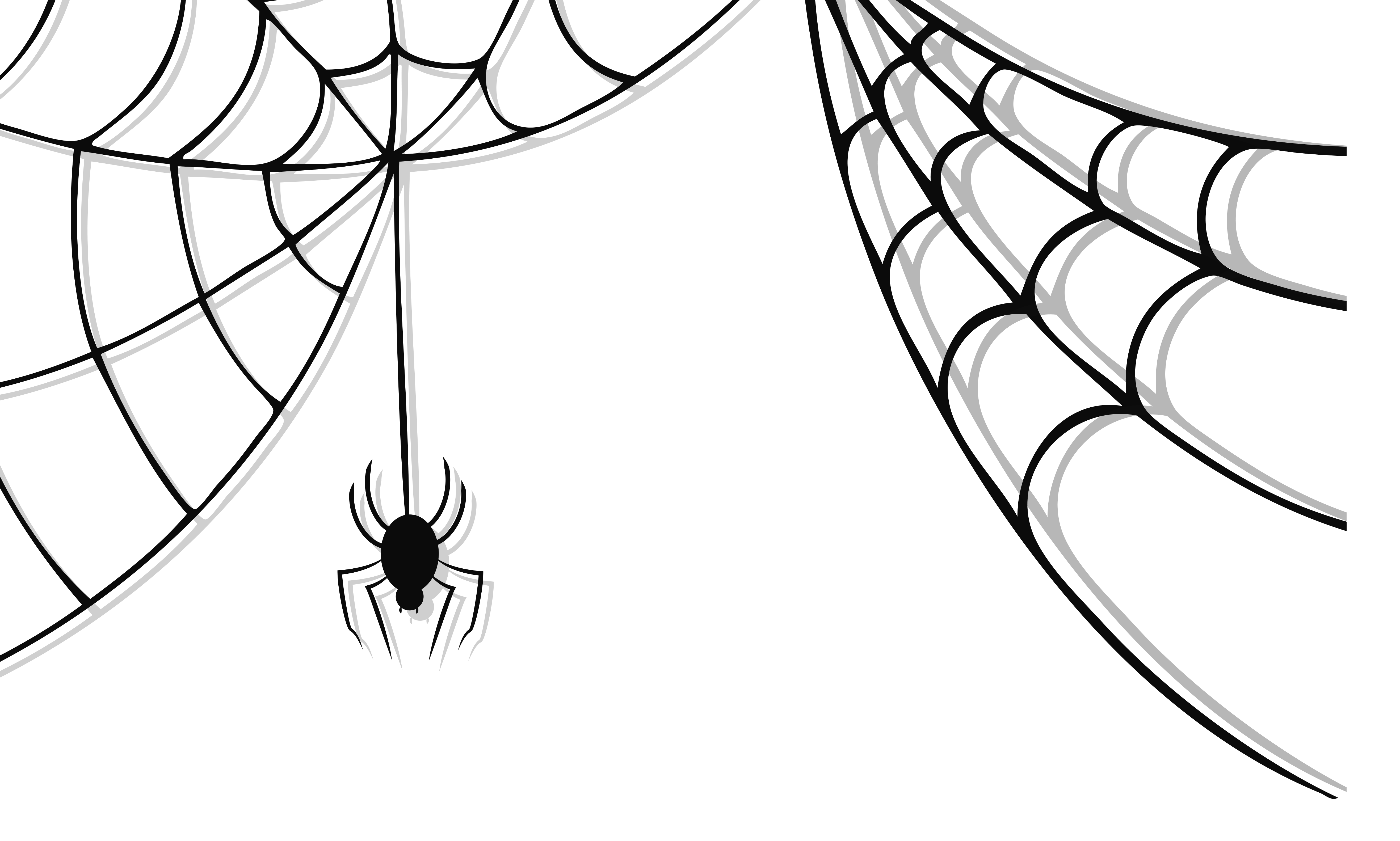 5267x3165 The Spider Web Drawing Ideas On Black Widow Clipart
