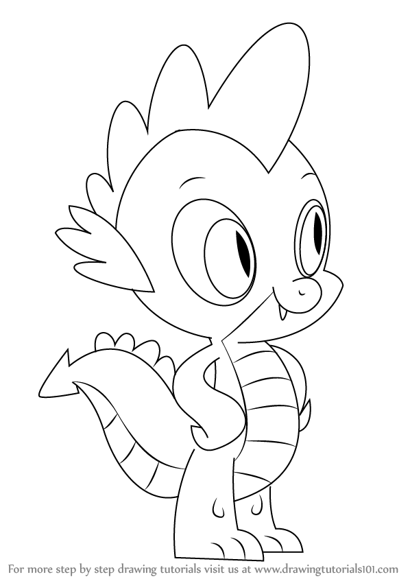 598x844 Learn How To Draw Spike From My Little Pony Friendship Is Magic