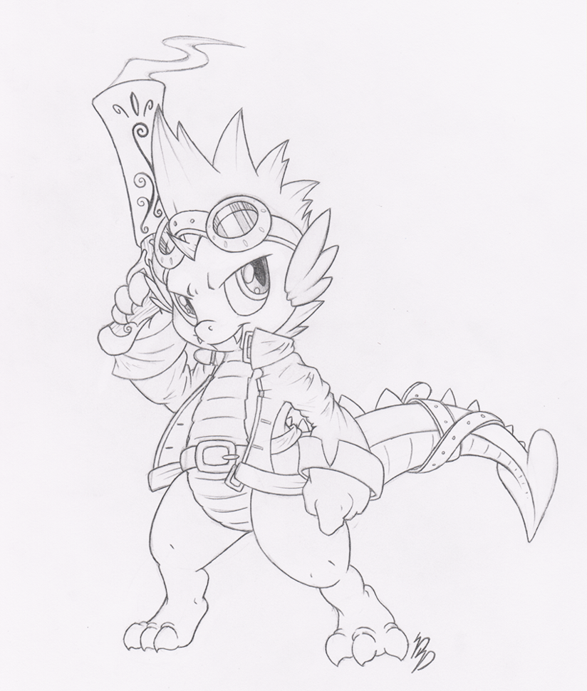 824x970 Spike Commission Sketch By Dfectivedvice