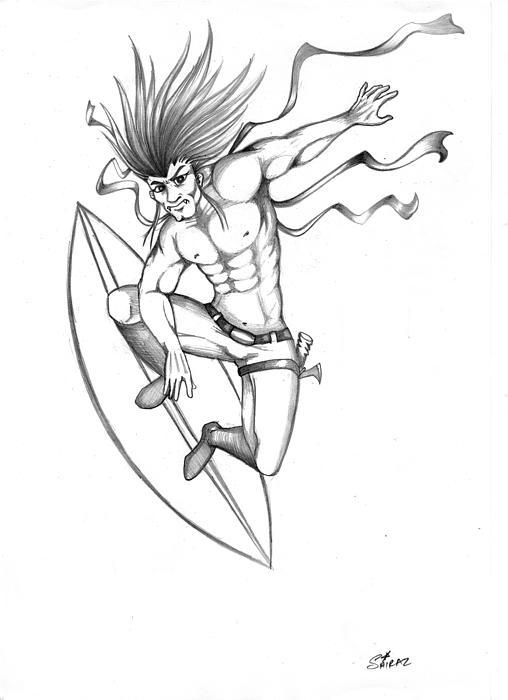 508x700 Spike Drawing By Shiraz Moideen