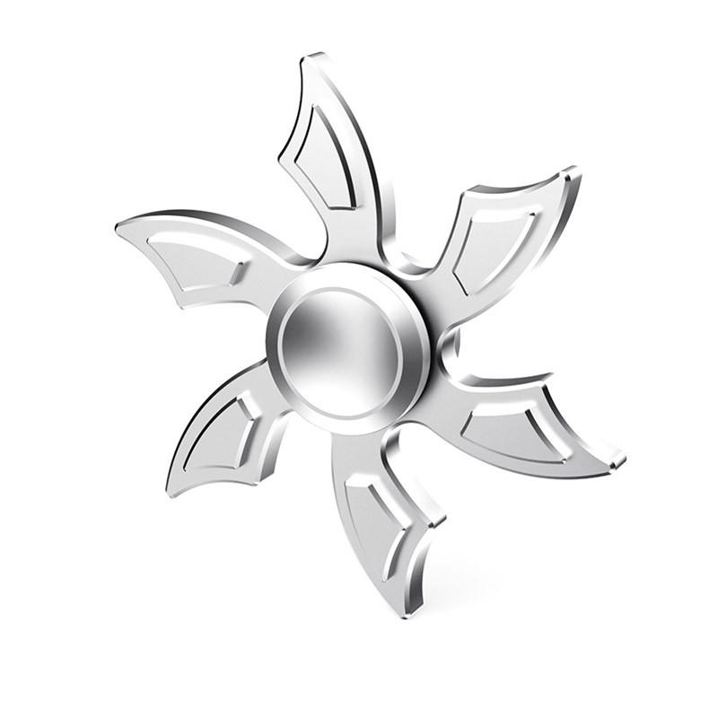 800x800 Very Cool Snowflake Aluminum Alloy Fidget Spinner With 606 Bearing