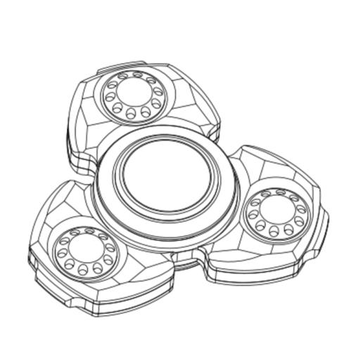 489x500 Colorful Luxury Diamond Cut Hand Spinner Edc Tri Spinner Fidget