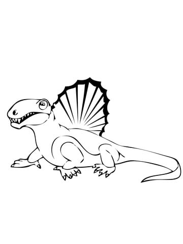 360x480 Spinosaurus Dinosaur Coloring Page Free Printable Pages