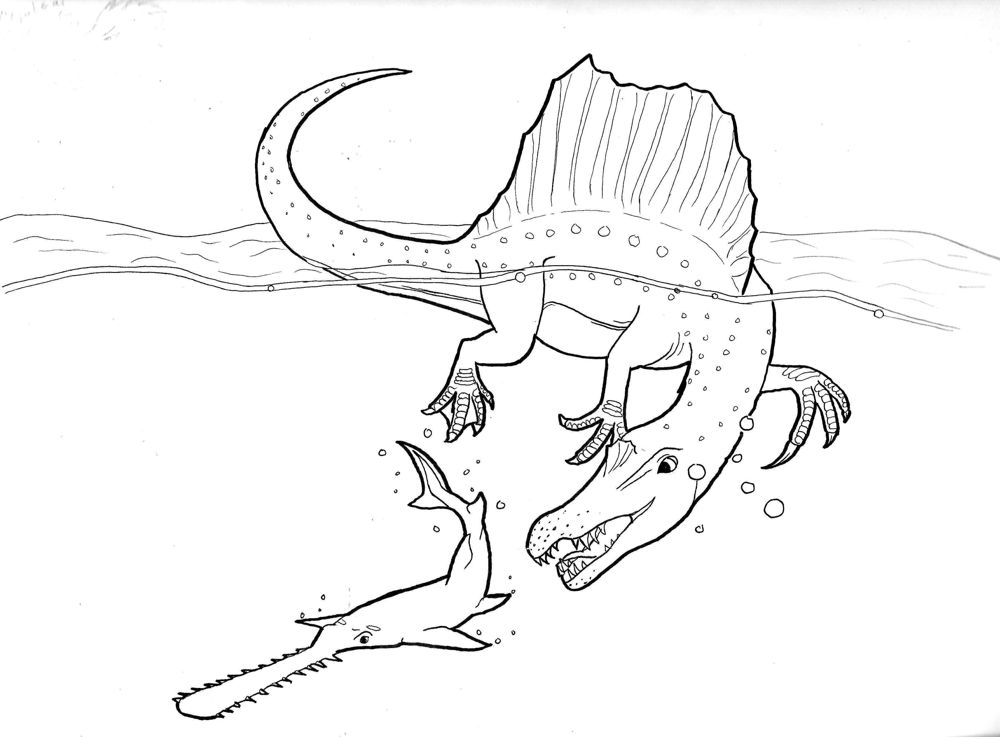 The Best Free Spinosaurus Drawing Images  Download From 82