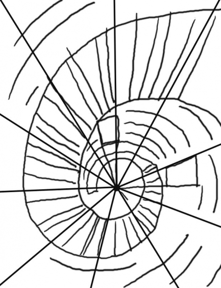 445x580 How To Draw A Spiral Staircase In Perspective Ehow Uk Spiral