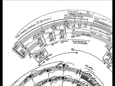 480x360 George Crumb Makrokosmos Book 1, Spiral Galaxy (Score Animation