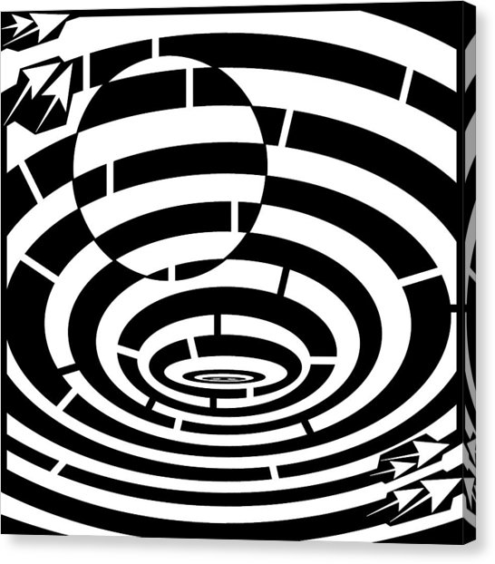 546x622 Spin Art Be The Ball Maze Drawing By Yonatan Frimer Maze Artist