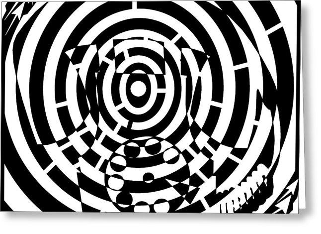 646x470 Spin Art Rotary Phone Maze Drawing By Yonatan Frimer Maze Artist