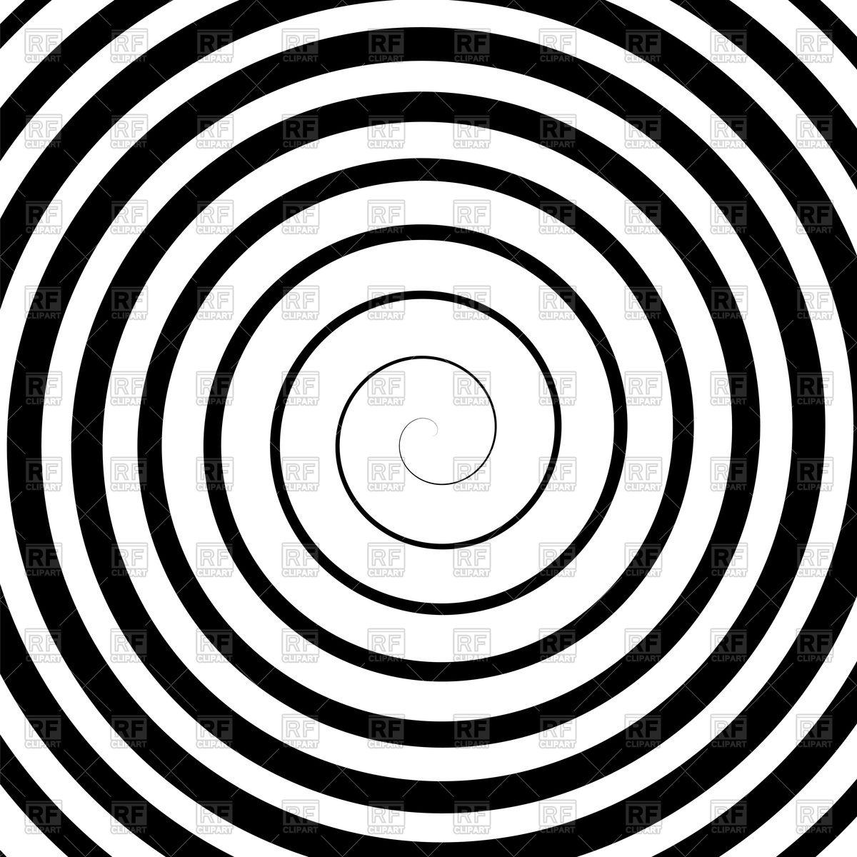 1200x1200 Black Spiral Hypnotic Background Royalty Free Vector Clip Art