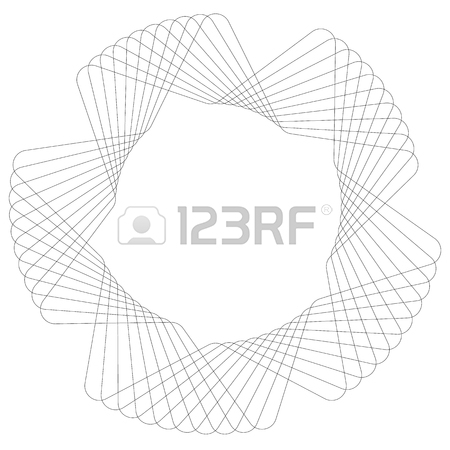 450x450 Spiral Element, Concentric Circles With Brush Strokes Royalty Free
