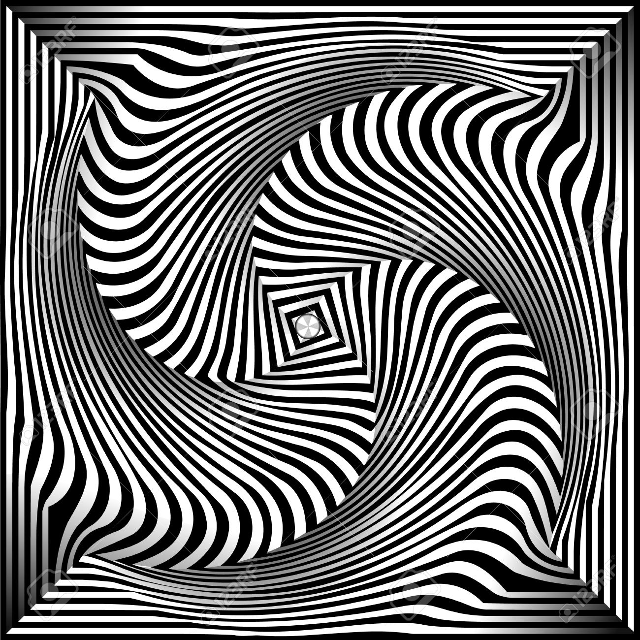 1300x1300 25495653 Spiral Optical Illusion Abstract Black And White Opt Art