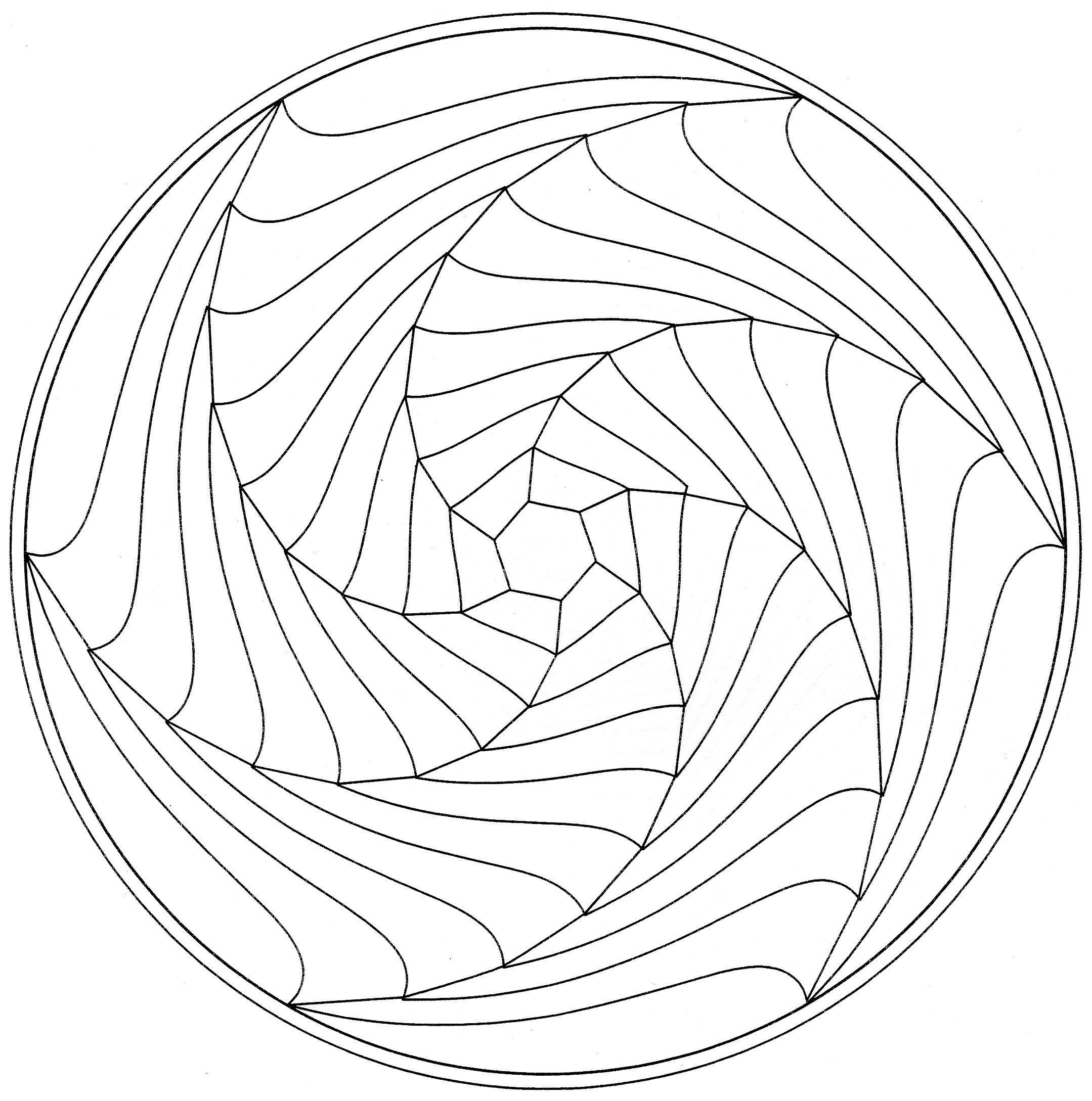 2159x2178 Spiral Mandala Coloring Pages Patterns Mandala