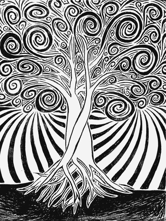 553x736 Spiral Tree Art Spiral And Zentangles