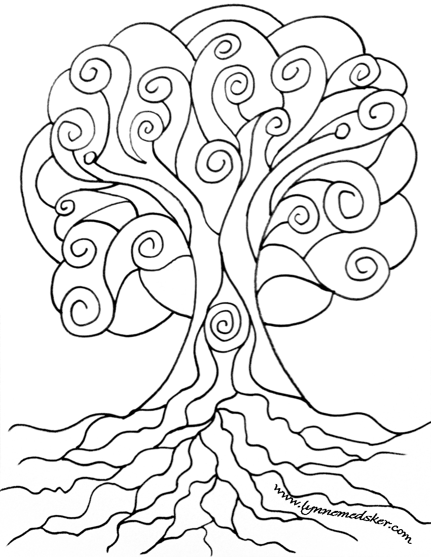 850x1100 Spiral Tree Download Amp Share! Spiral, Filing And Creative