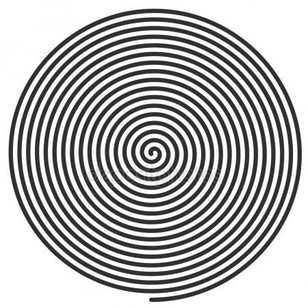450x450 Spiral Hypnotic Background. Stock Vector Art Sonik