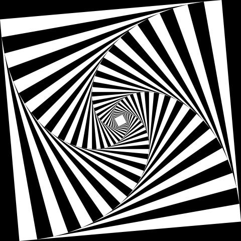 480x480 4 Sided Spiral Tunnel In Op Art Op Art Op Art