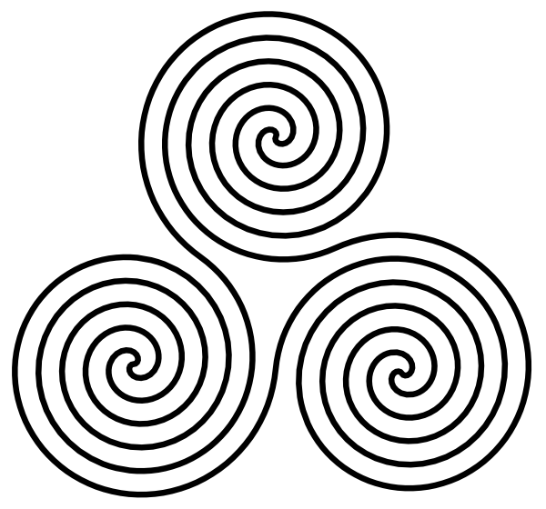 600x560 Triple Spiral Symbol Clip Art Free Vector 4vector