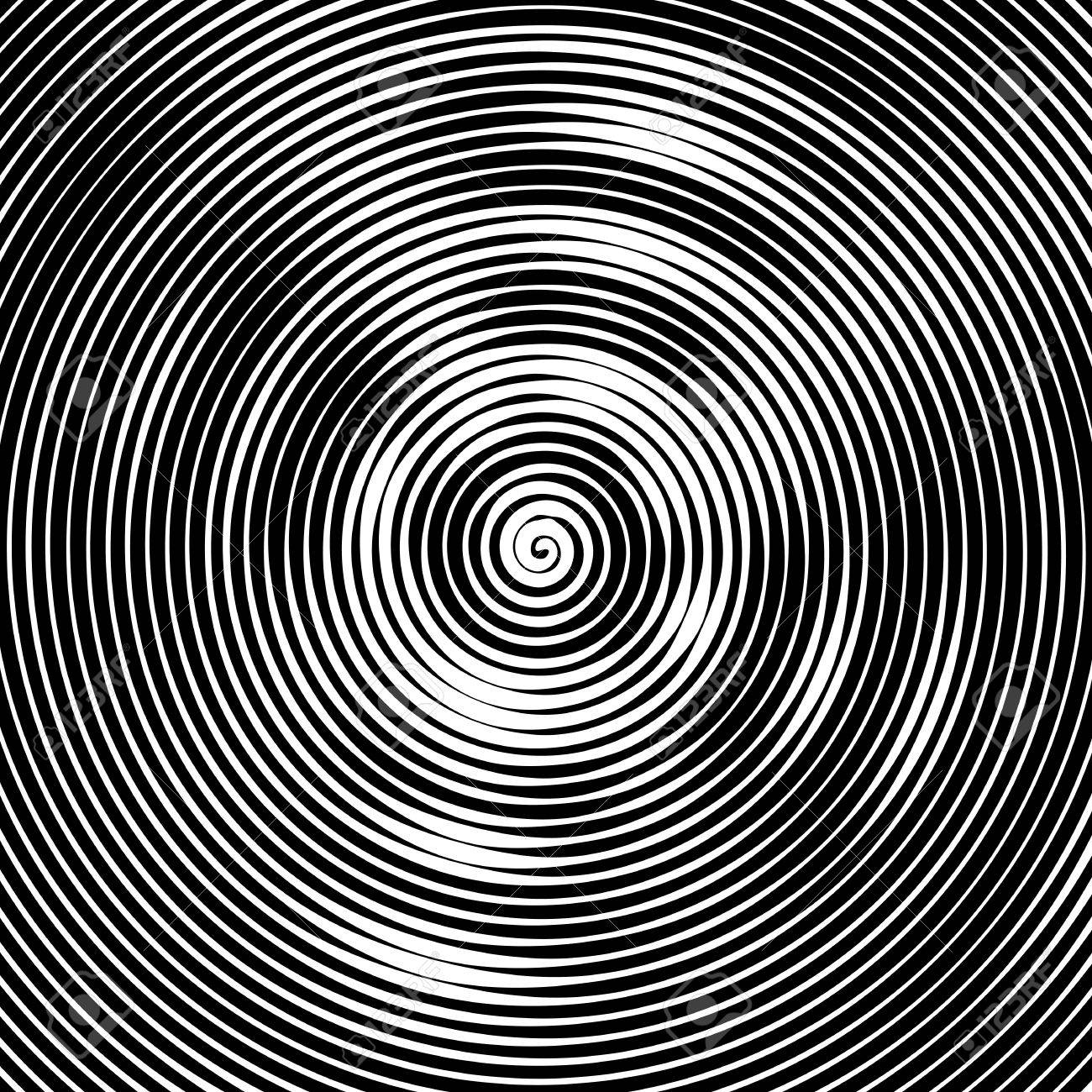 1300x1300 Abstract Vector Background. Hypnotic Spiral Line With Different