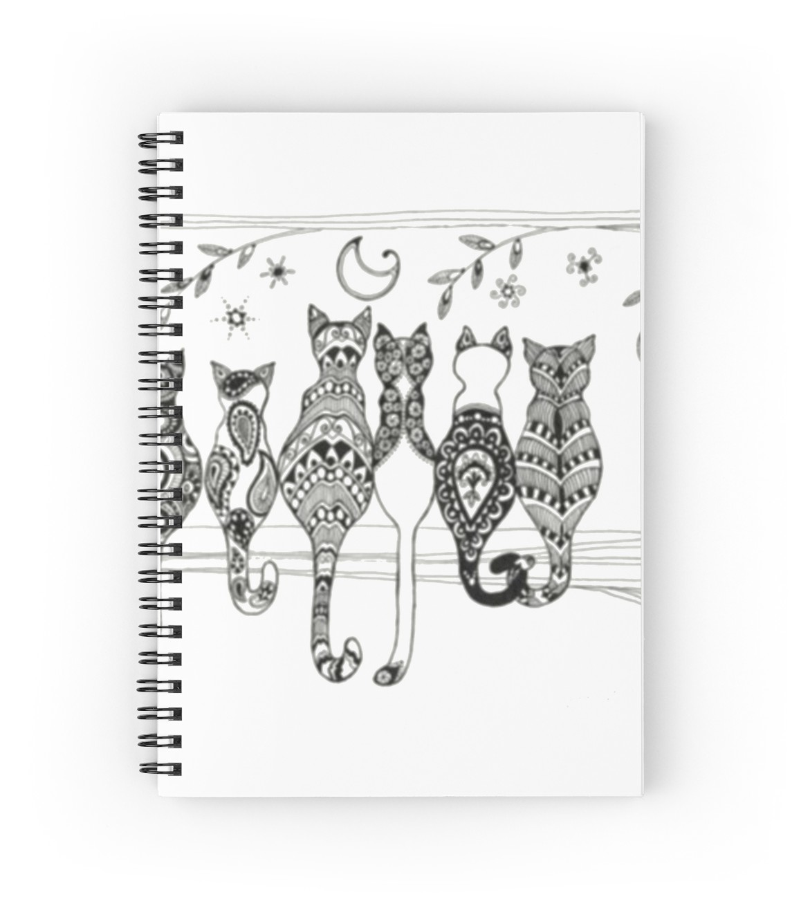 1171x1313 Draw Cat Spiral Notebooks By Bloodymanson Redbubble