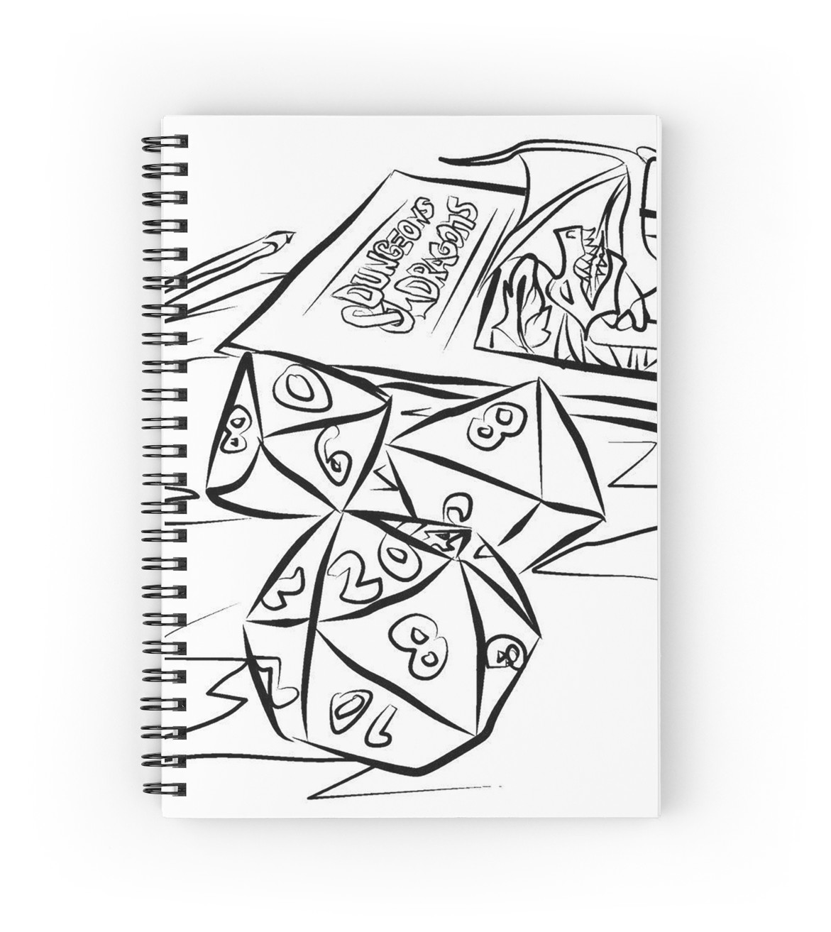 1171x1313 Dungeons And Dragons Spiral Notebooks By Stegerprodesign Redbubble