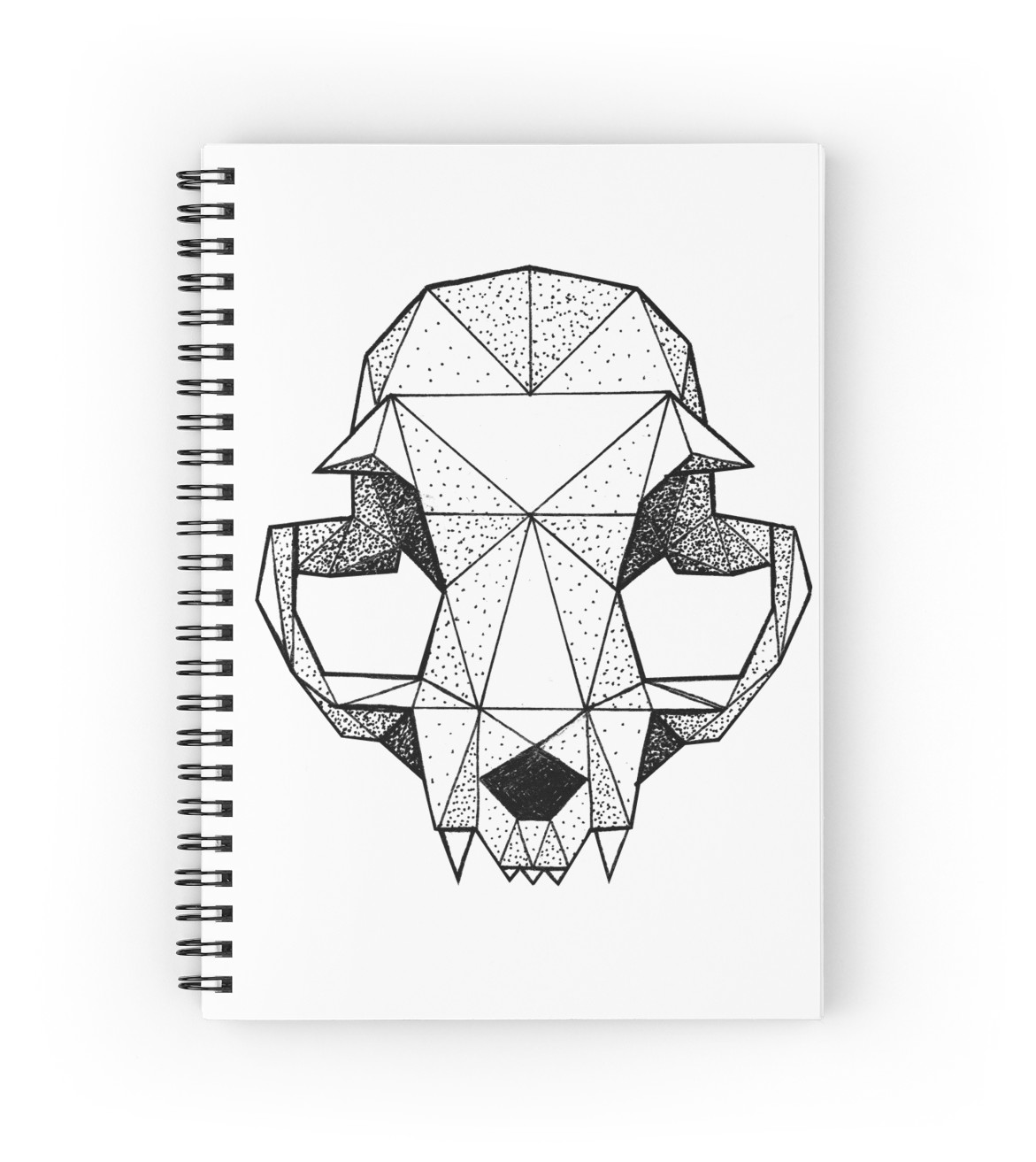 1171x1313 Geometric Cat Skull Spiral Notebooks By Broenner Redbubble